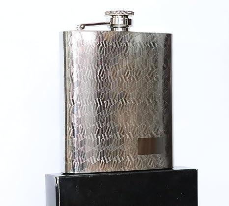 Compra heesung de petaca alfombrilla patrón grabado de licor ...