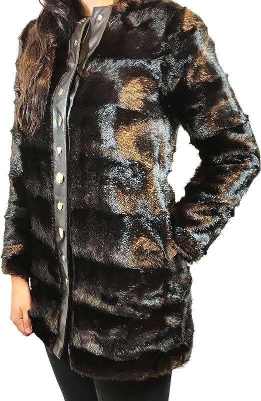 en Manteau 2969256 fourrure femme marron fausse Zara long 0wOmvnyN8