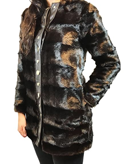 En Fourrure Long Zara Fausse 2969256 Manteau Femme Marron y76vbfYg