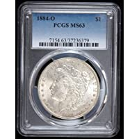 1884 O United States Morgan Silver Dollar $1 MS-63 PCGS