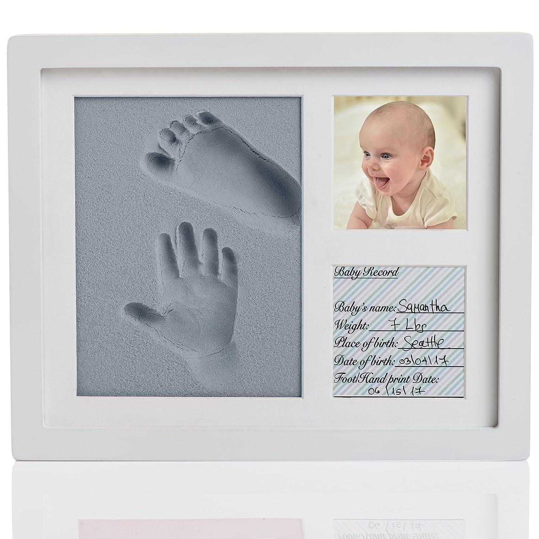 Amazoncom Amazing Baby Handprint And Footprint Frame Kit