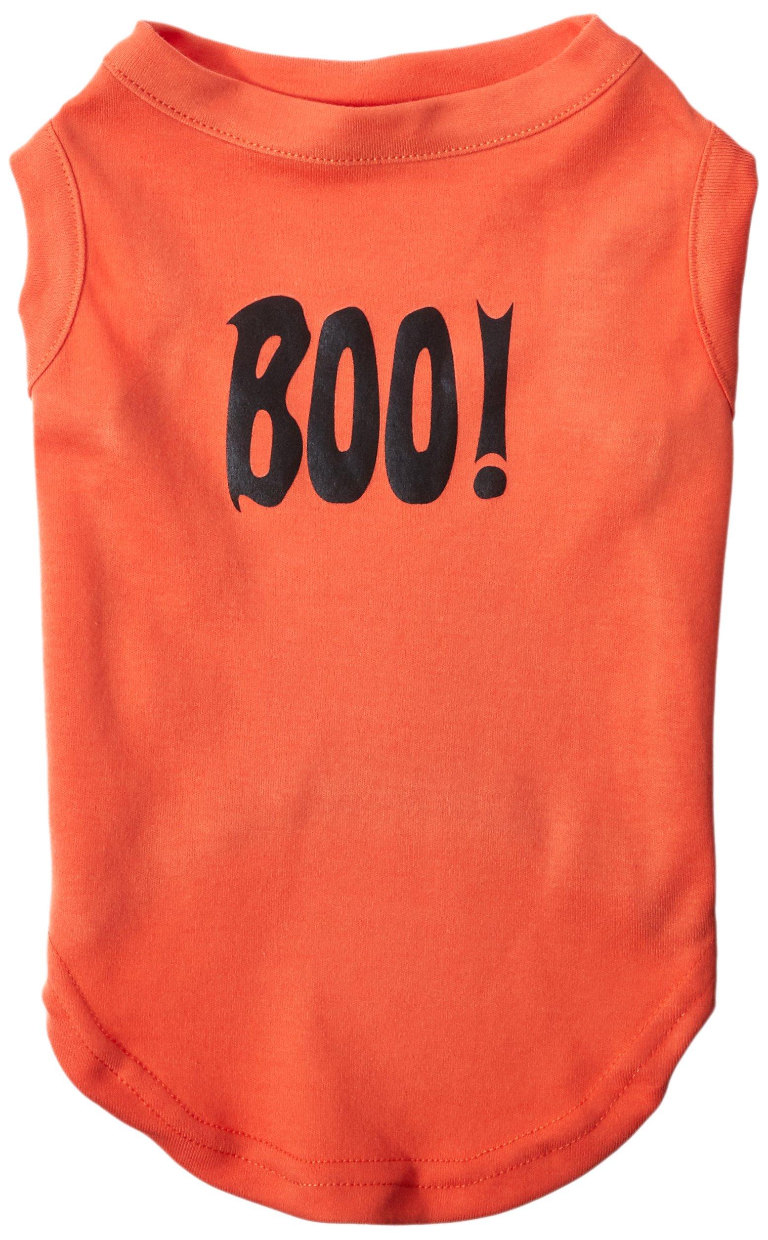 Mirage Pet Products Boo! Screen Print Shirts Orange Lg (14)