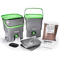 Bokashi Organico 2er Set - 2 x 16 Liter mit Ferment - Innovativer Bio Abfalleimer - Biomülleimer - Komposteimer für Küchenabfälle und Kompost