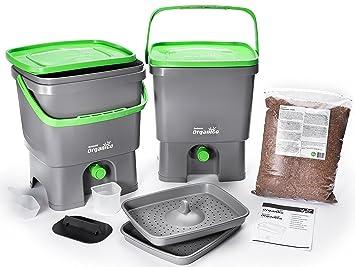 Skaza – Mente su Eco Bokashi Organico Doble Sistema 2 x 3,5 galones Cubos