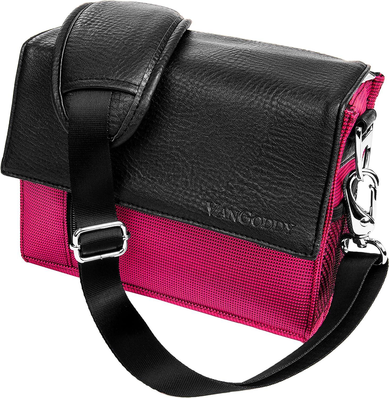 Magenta Crossbody Shoulder Camera Carrying Case Bag for Nikon Z50 Z7 Z6, D DL CoolPix Series