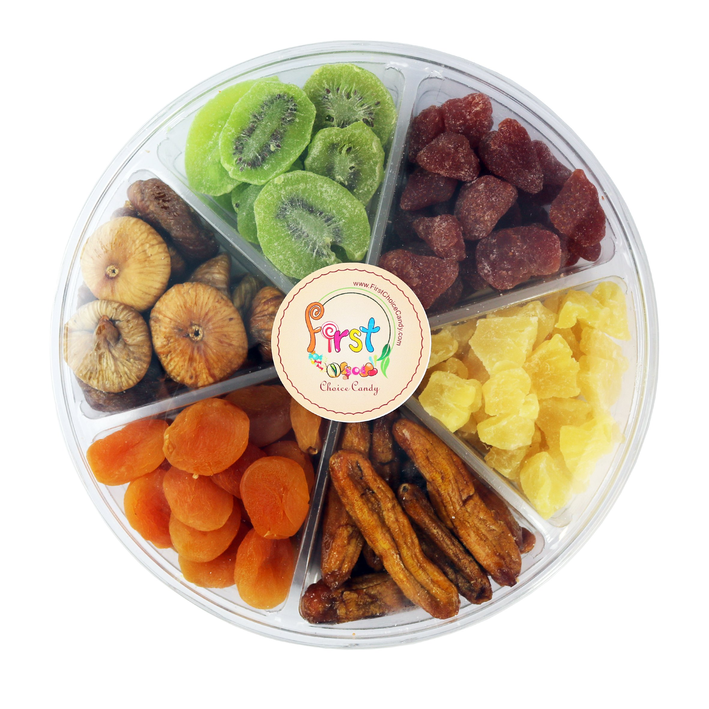Dried Fruit Deluxe Gift Tray, 6 Section Collection of Fresh Fruits By FirstChoiceCandy by First Choice Candy (Image #5)