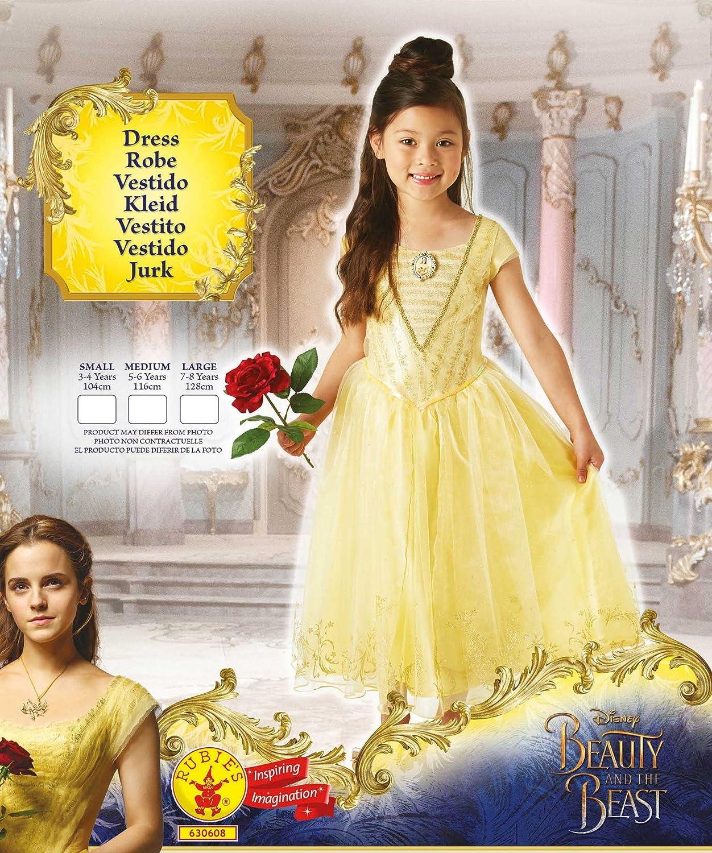 La Bella y la Bestia - Disfraz de Bella Premium para niña ...