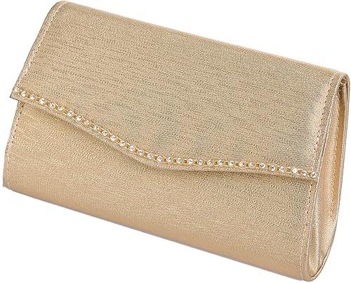 LEXUS - Cartera de mano de Satén para mujer, color Dorado, talla talla única: Amazon.es: Zapatos y complementos
