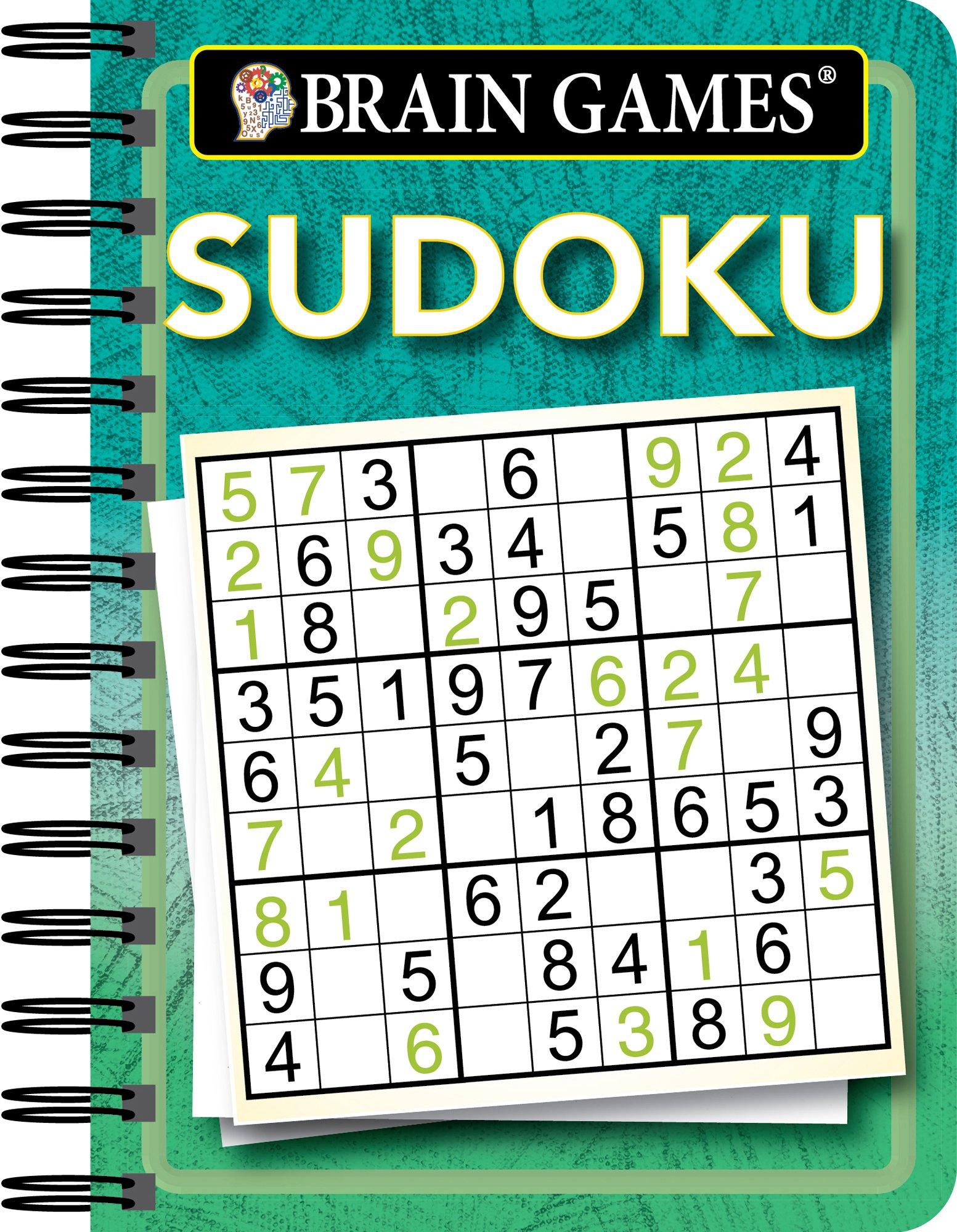 Amazon.com: Brain Games Mini - Sudoku (Green) (9781680225358): Publications  International Ltd.: Books