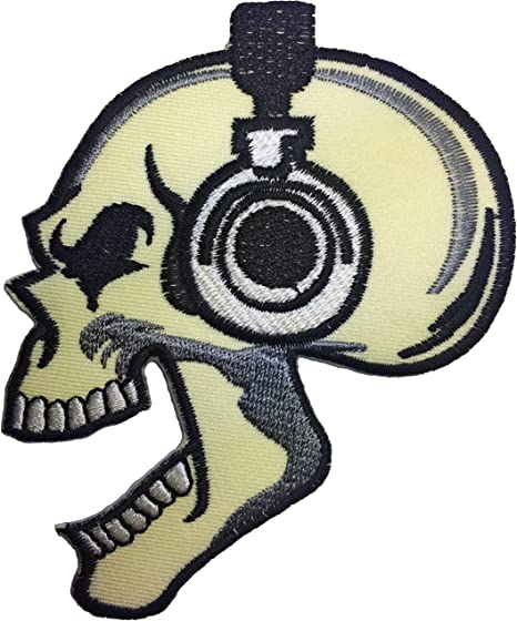 skeleton patches punk Skull black patch badge biker,diy embroidered,applique gift for kids..