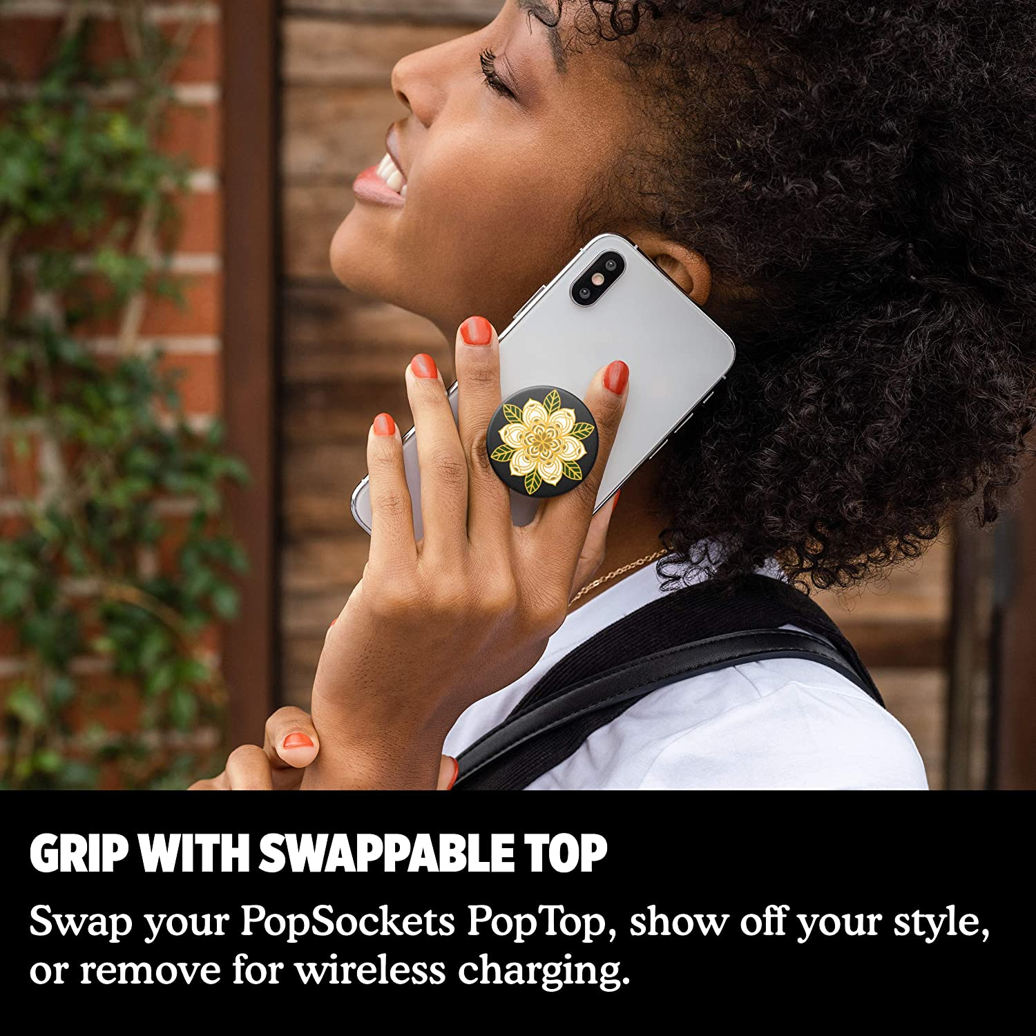 PopGrip with Swappable Top for Phones and Tablets PopSockets Bloom
