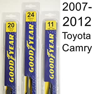 "Toyota Camry (2007-2012) Wiper Blade Kit - Set Includes 24"" (Driver Side), 20"" (Passenger Side) (2 Blades Total)"
