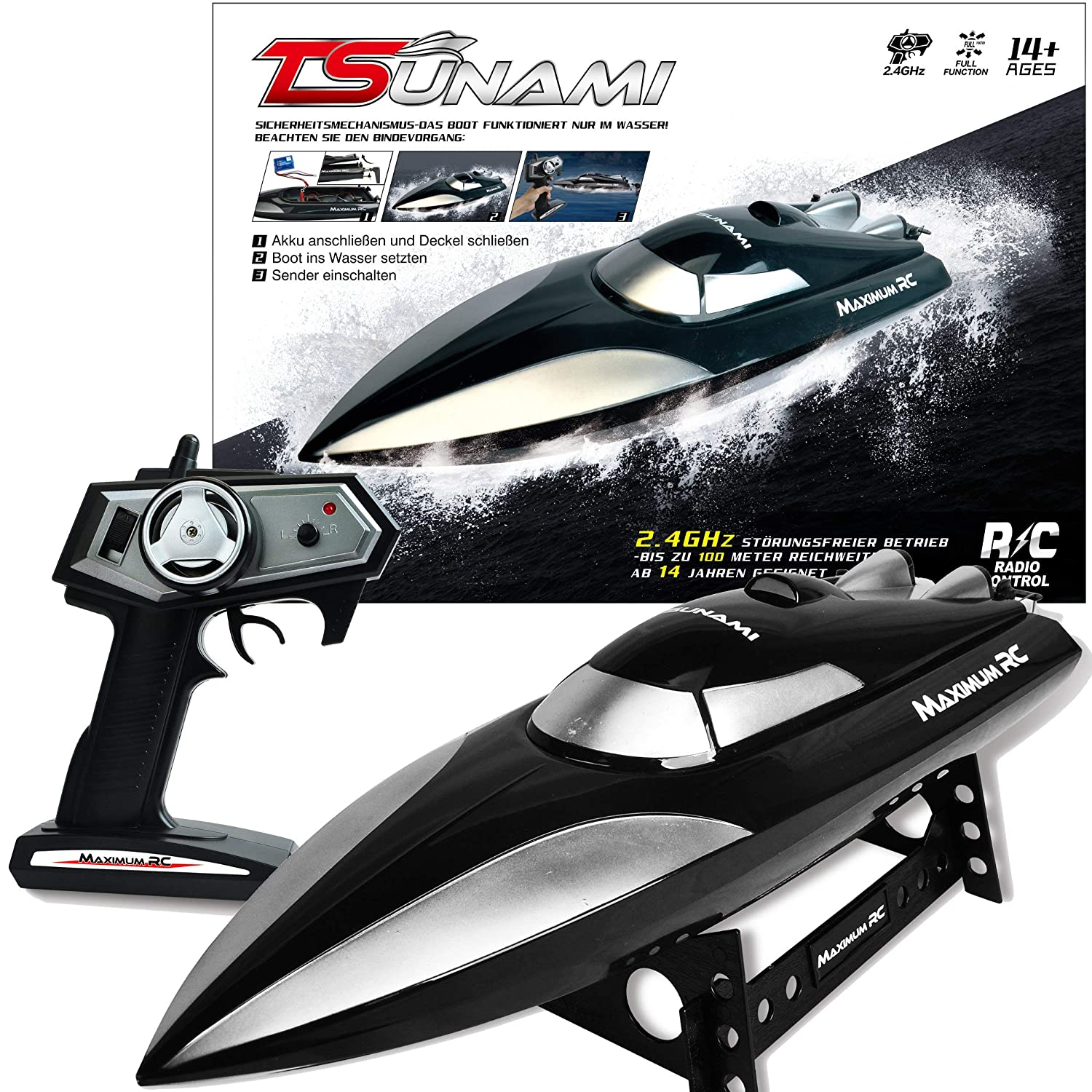 2 4 GHz RC Speed Racing Boat, RC Speed Boat, Radio
