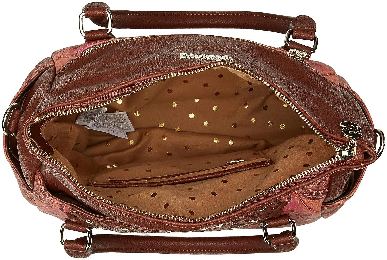 Leather Brown Marron Desigual Bols/_winter Valkyrie/_loverty Sac femme 14x24x33 cm B x H T