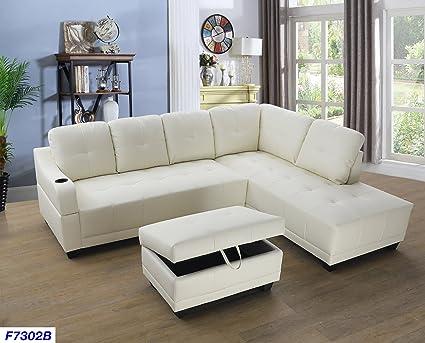 Amazon.com: Beverly Fine Funiture CT7302B - Juego de sofá ...