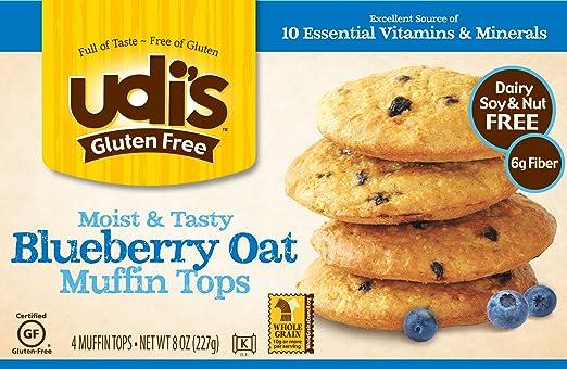 UDI sin gluten Muffin Tops de la Avena de arándanos – 4 ...