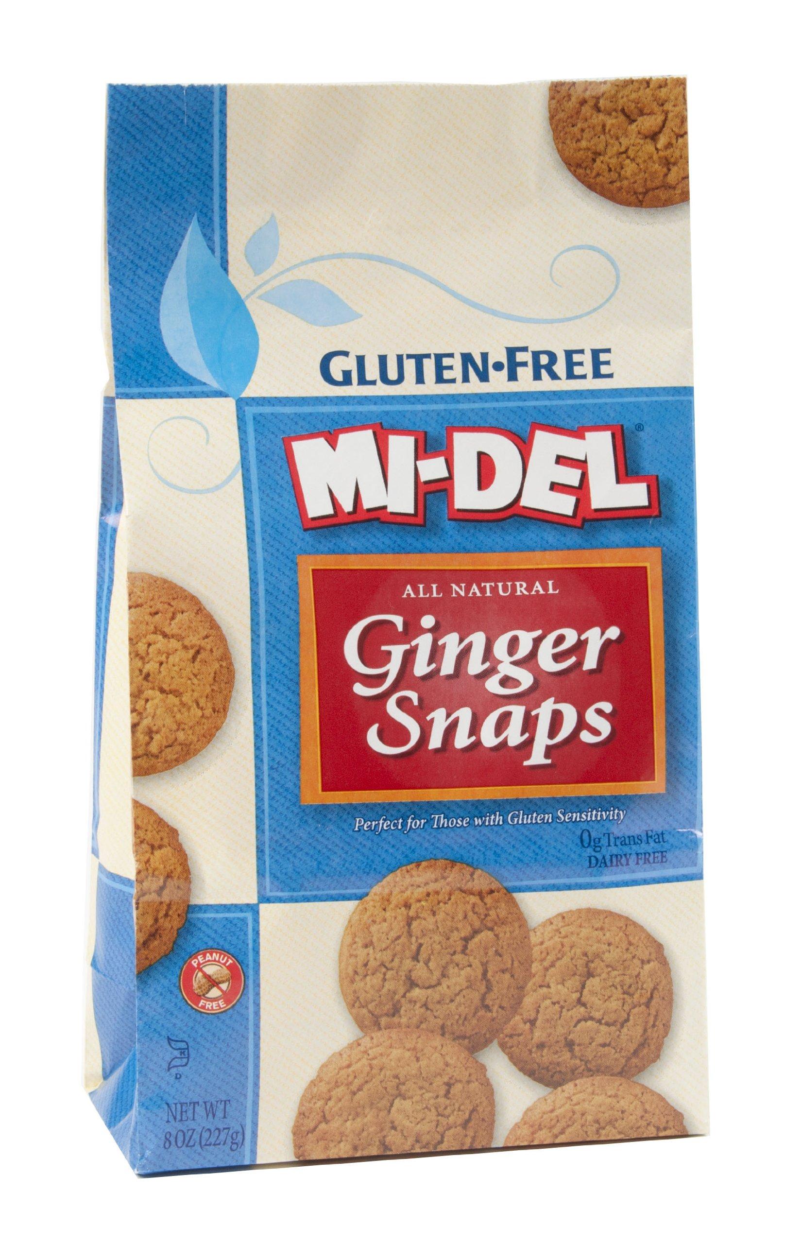 Midel Ginger Snaps Gluten Free 8 Oz (Pack of 12)