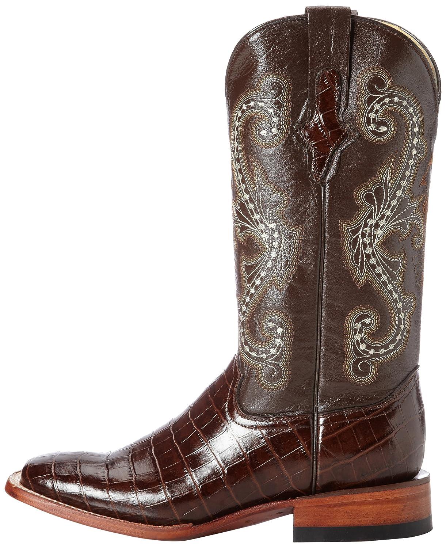 Ferrini Women's Print Alligator S-Toe Western Boot B01EM5CR6S 11 B(M) US|Chocolate