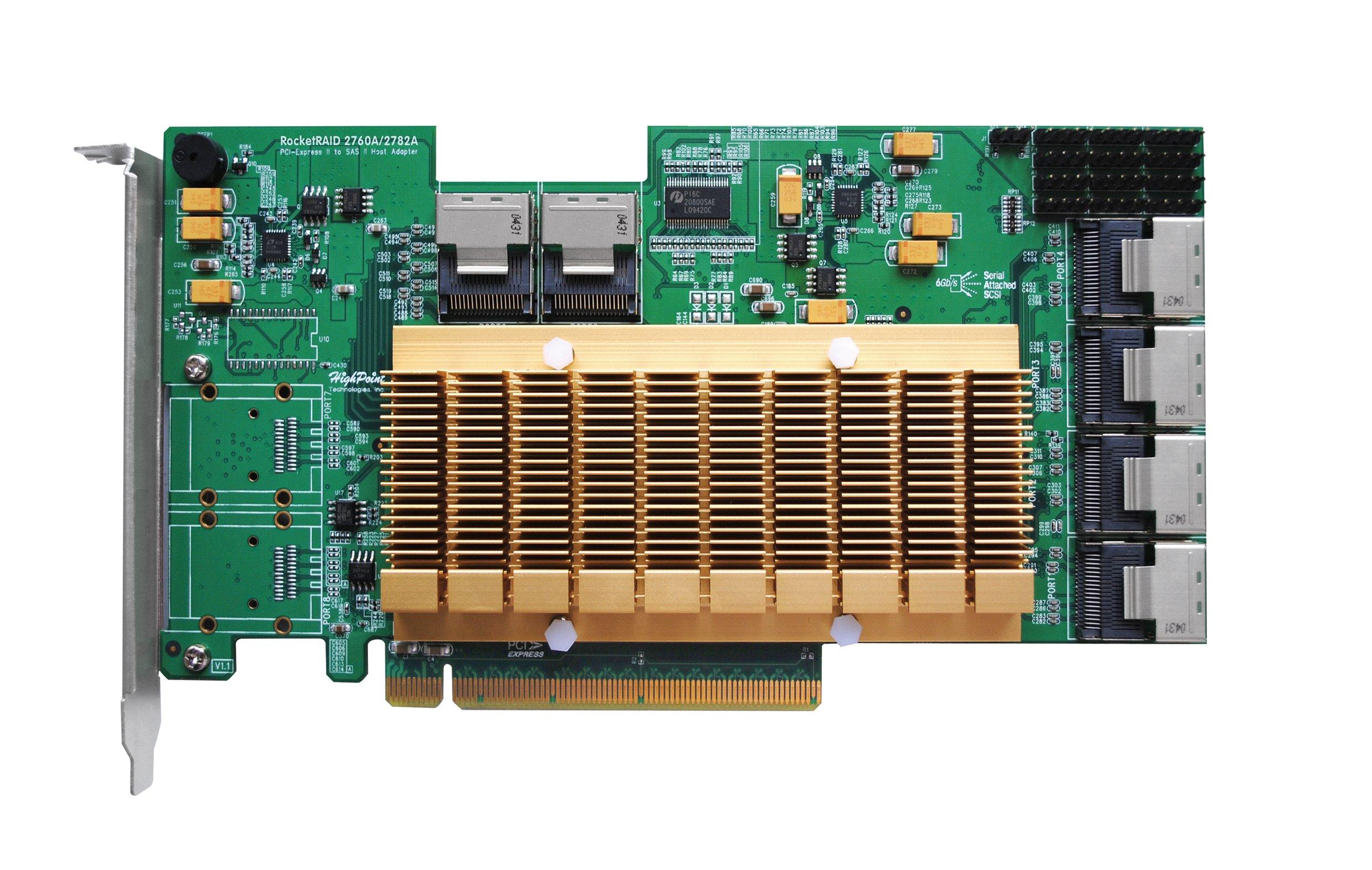 HighPoint RocketRAID 2760A 24-Port PCI-Express 2.0 x16 SAS/SATA RAID Controller