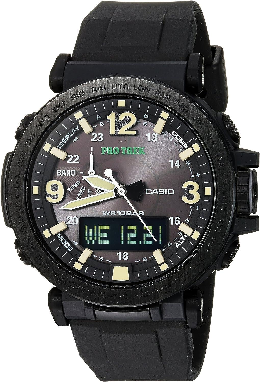 Casio Men's 'PRO TREK' Quartz Resin and Silicone Casual Watch, Color:Black (Model: PRG-600Y-1CR)