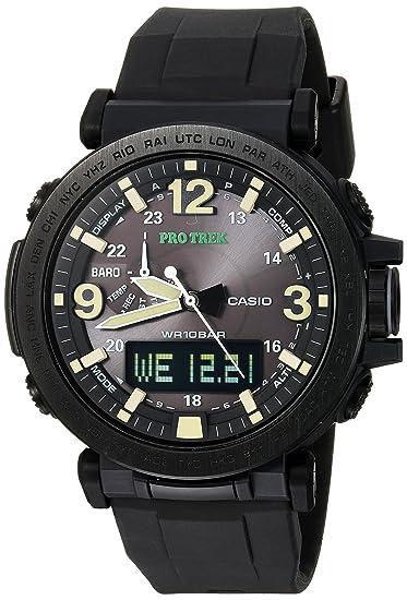 f2998a24a613 Casio De los hombres Pro Trek  resina y gamuza de cuarzo reloj Casual