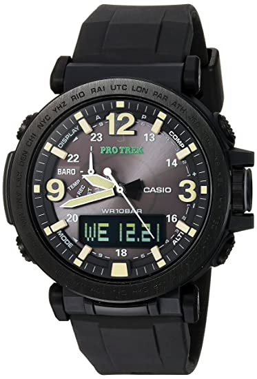 Casio Mens PRO TREK Quartz Resin and Silicone Casual ...