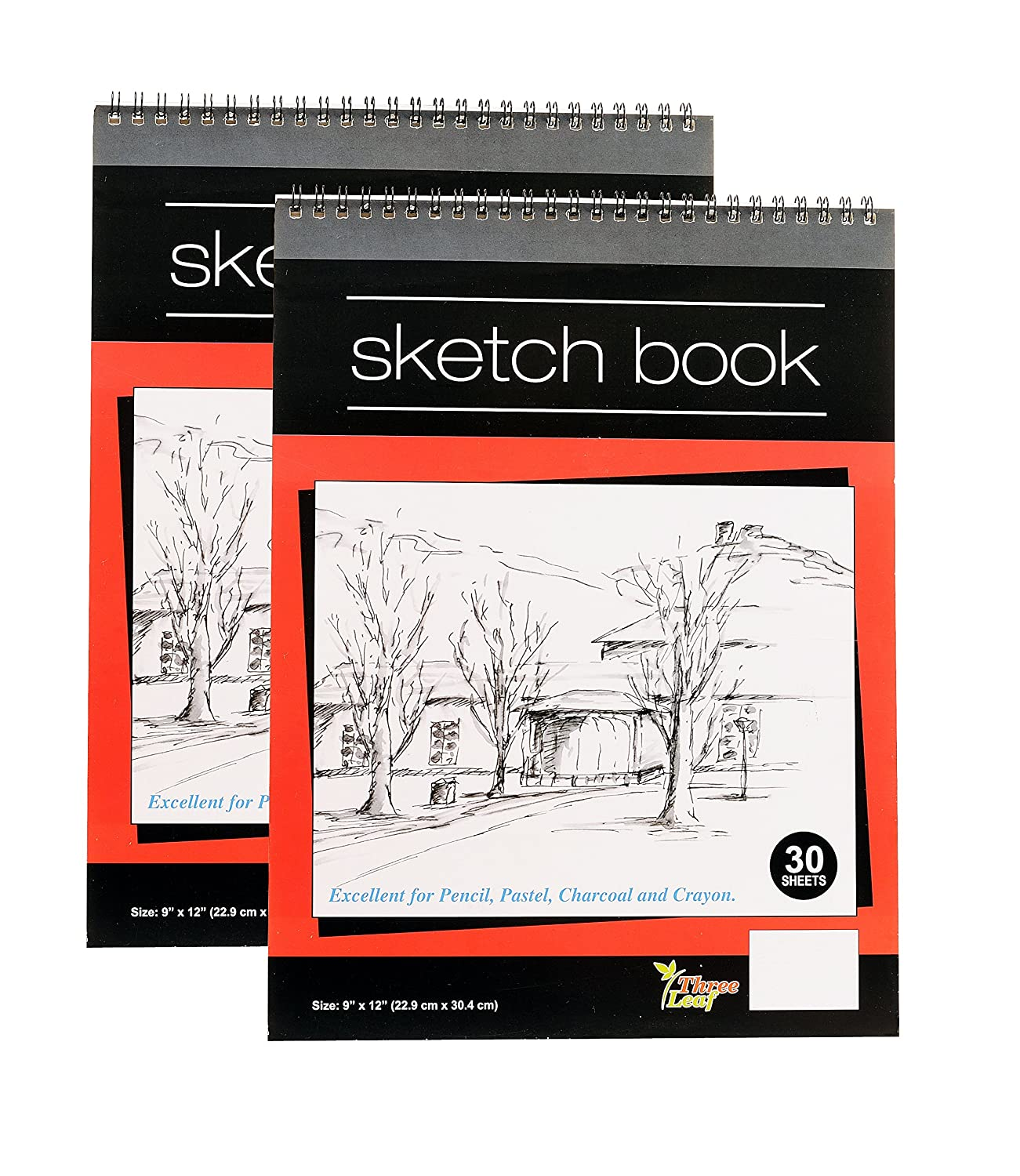 Amazon com wired sketch book 9x12 inch 30 sheets per book excellent for pencil pastel charcoal and crayon from northland wholesale
