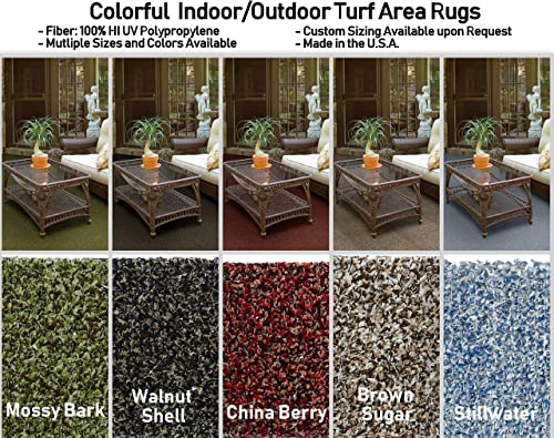 Multi-Colored Indoor Outdoor Turf Area Rugs. Perfect for Gazebos, Decks, Patios, Balconies and Much More. Many Sizes and Colors to Choose from 9 x12 , Walnut Shell