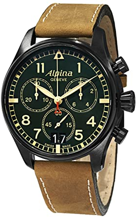 Amazoncom Alpina Mens ALGRFBS SmartimePilot Analog Display - Alpina watches prices