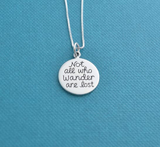 Amazoncom Not All Who Wander Are Lost Charm Necklace In