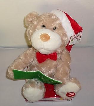 amazon com animated talking moving christmas teddy bear toys games