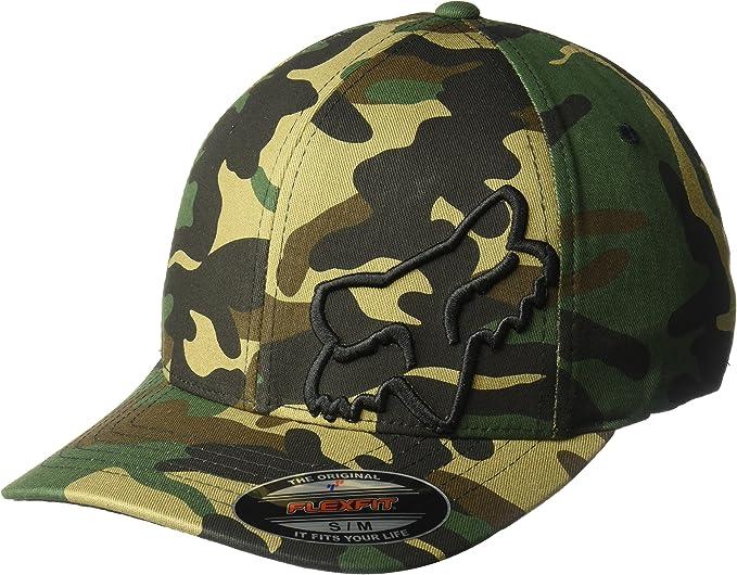 Fox Racing Mens Black//White Flex 45 Flexfit Hat