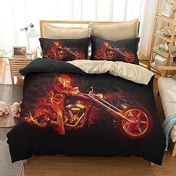 Juego de cama de 3 piezas Funda nórdica de 1 pieza con funda de almohada de 2 piezas Sin funda de edredón,Double: Amazon.es: Hogar