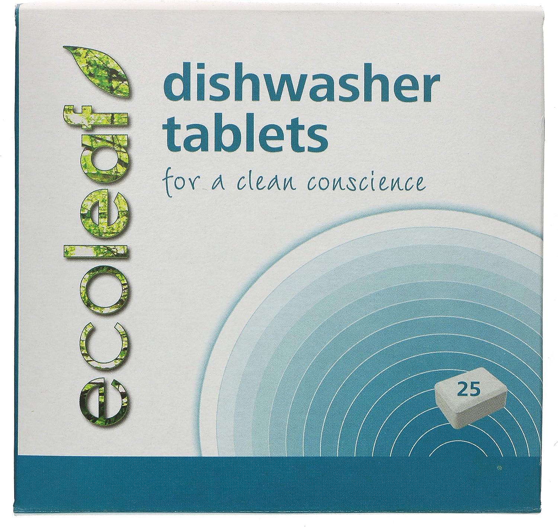 Ecoleaf Natural Dishwasher Tablets - 25 Tabs