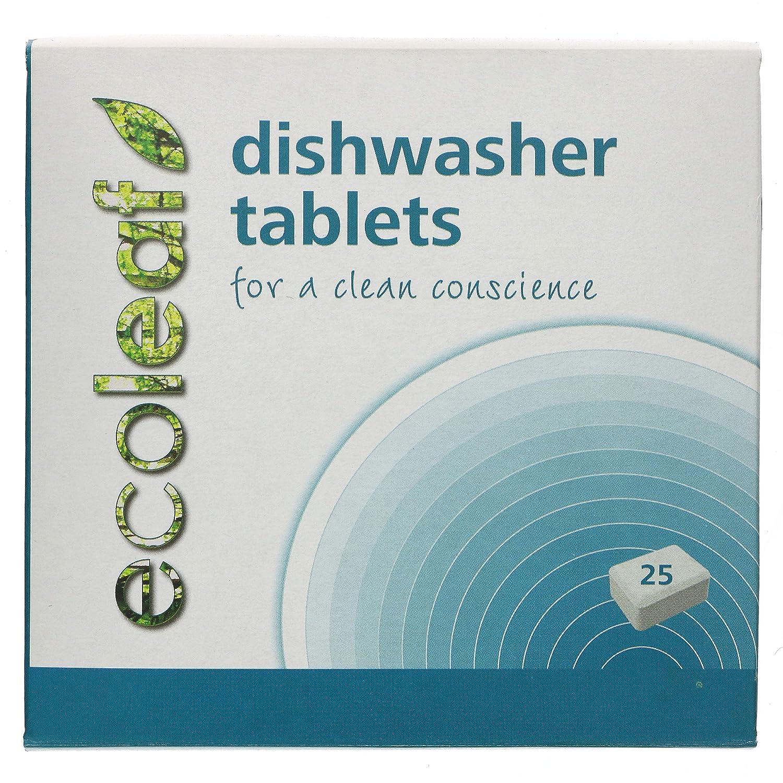 Ecoleaf, Pastillas de lavavajillas, 25 unidades: Amazon.es: Salud ...