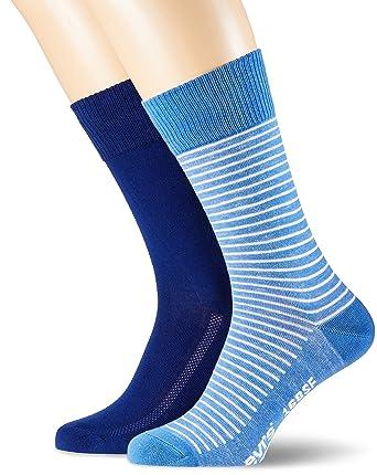 Levis Levis 168sf Regular Cut Vintage Stripe 2p, Calcetines para Hombre, Azul (Blue