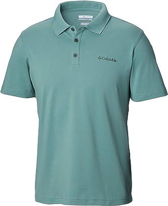 Columbia Hombre Manga Corta Camisa Polo - Verde - XX-Large: Amazon.es: Ropa y accesorios