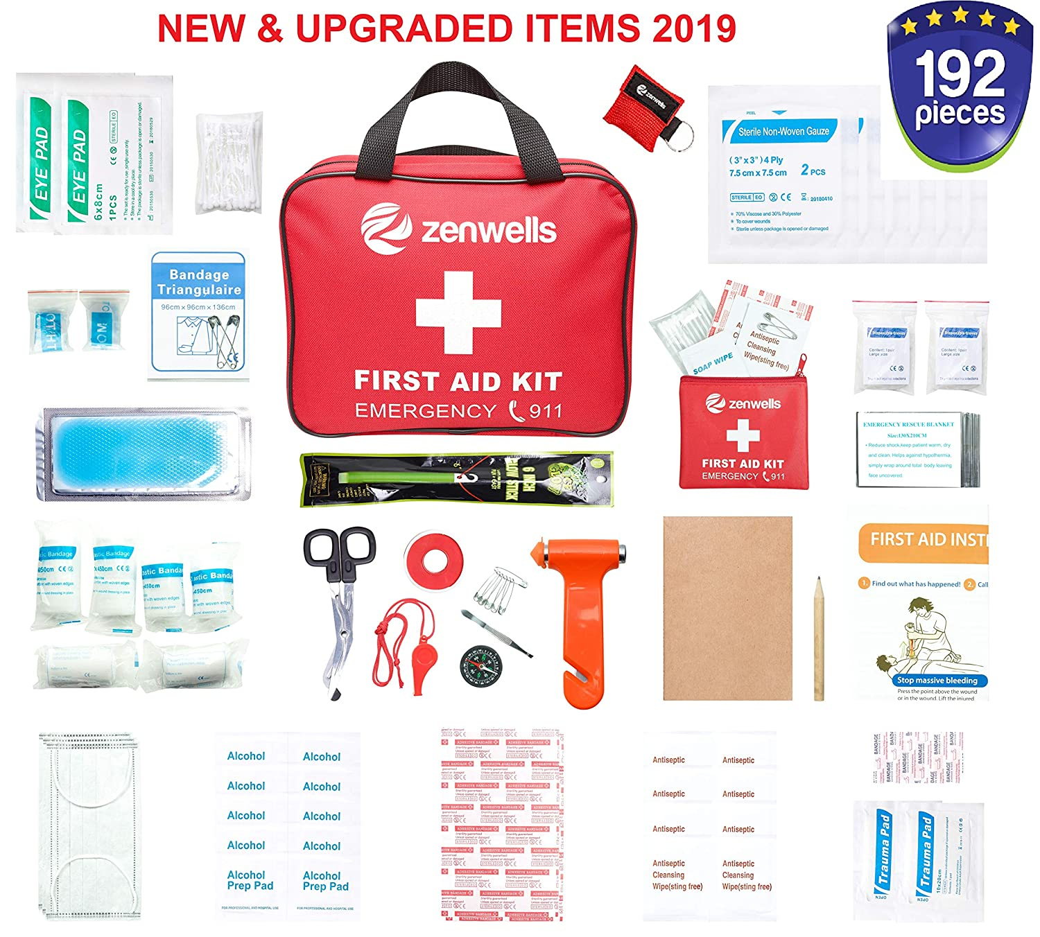 9a136c62c57 Amazon.com  Best First Aid Med Kit for Emergency and Disaster Preparedness