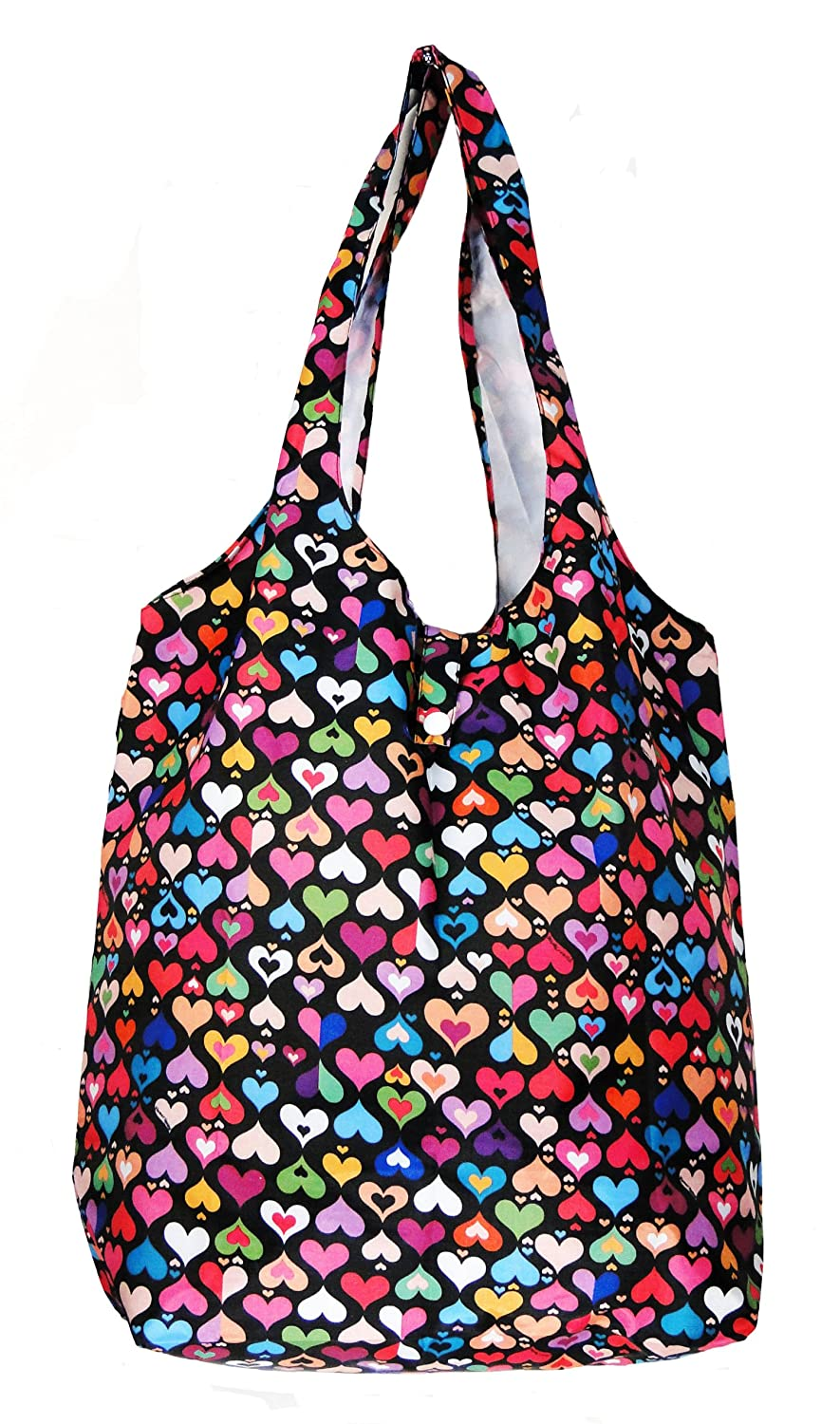 Amazon.com: Trendy Sturdy Shopping Tote Bag - Color Hearts Pattern ...