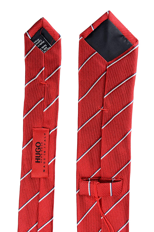 Hugo Boss Mens Multi-Color Striped 100/% Silk Tie