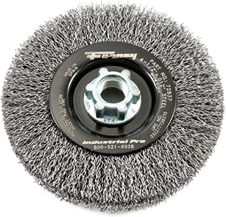 Industrial Pro Crimped with 5//8-Inch 11 and M14-by-2.0 Multi Arbor 4-1//2-Inch-by-.012-Inch Forney 72837 Wire Wheel Brush