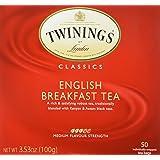 Twinings English Breakfast Tea, Tea Bags, 50 ct