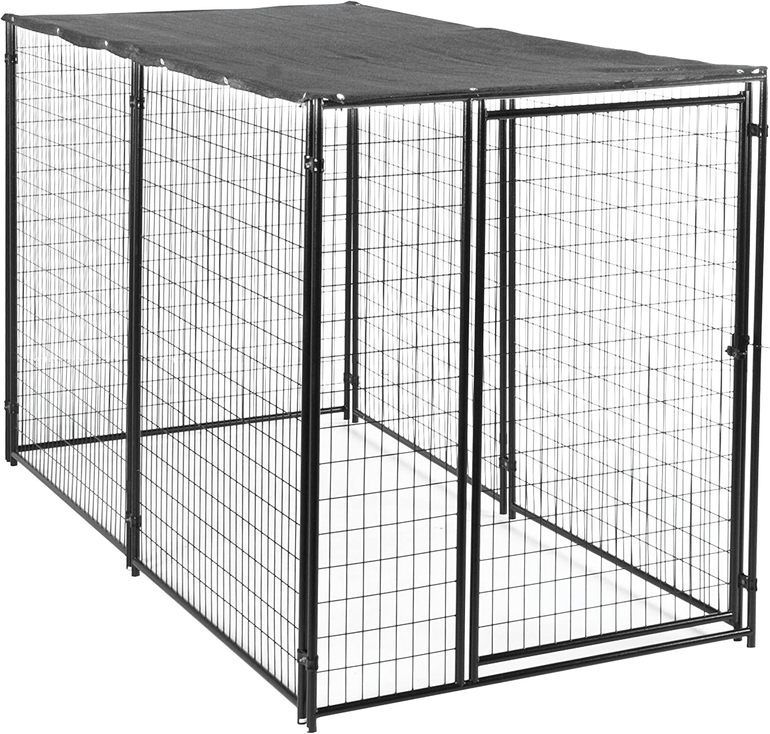 Lucky Dog Dog Kennel with Waterproof Cover Modular Box Kennel – This Welded Animal Enclosure is Perfect for Medium to Large Dogs and Animals and is Designed with Their Safety and Comfort in Mind