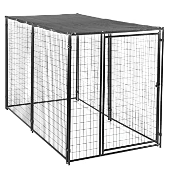Lucky Dog Dog Kennel with Waterproof Cover Modular Box Kennel - This Welded  Animal Enclosure is Perfect for Medium to Large Dogs and Animals and is