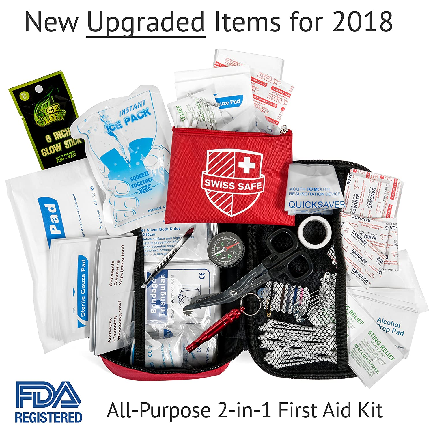 Amazon 2 in 1 first aid kit 120 piece bonus 32 piece amazon 2 in 1 first aid kit 120 piece bonus 32 piece mini first aid kit compact lightweight for emergencies at home outdoors car camping magicingreecefo Image collections