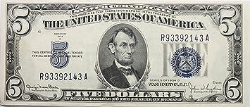 Dollar Bill Blue Seal Silver Certificate