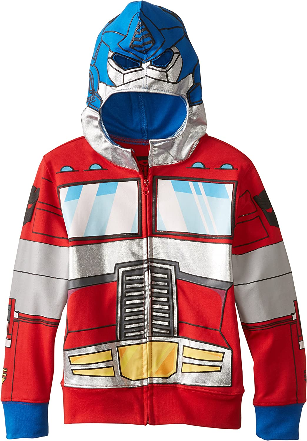 Transformers Boys' Optimus Prime Character Hoodie: Clothing
