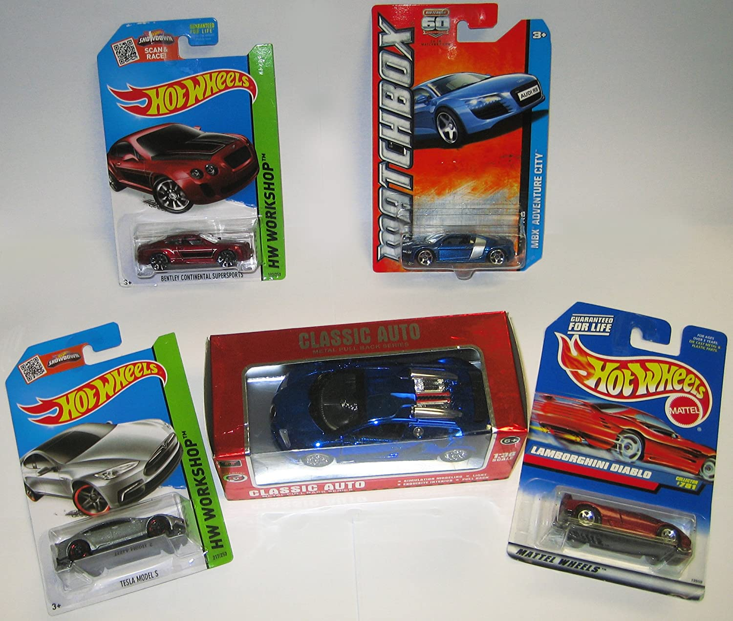Mini Collection Of 5 Exotic Cars Matchbox Audi R8