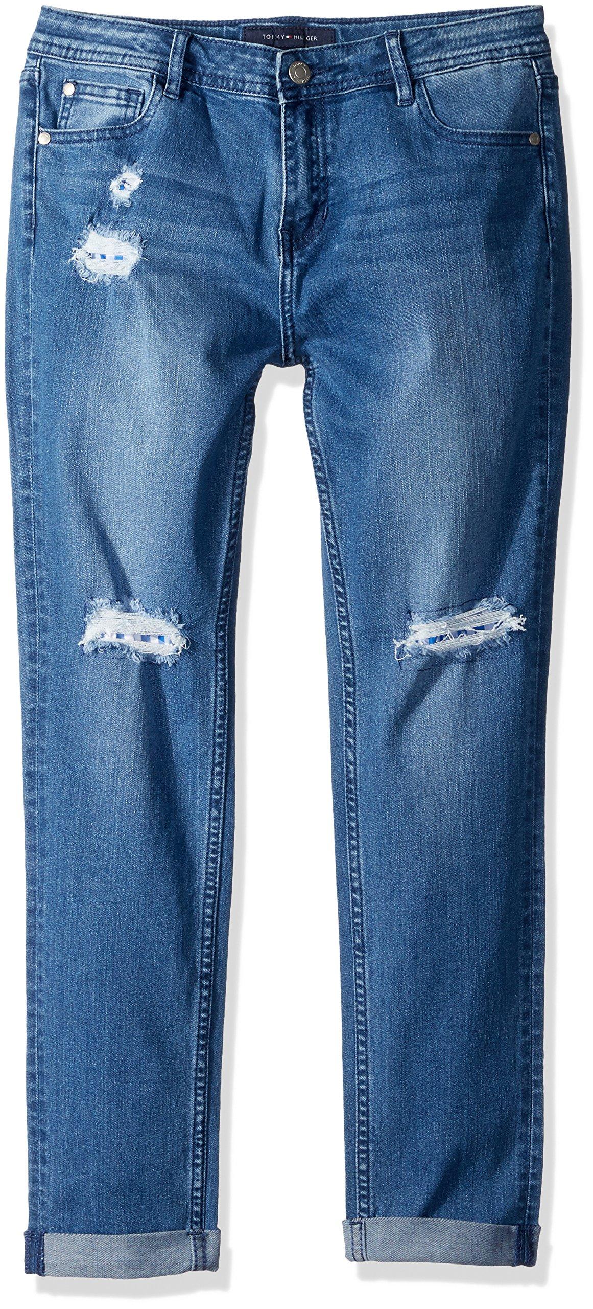 e23aa21ff5a Galleon - Tommy Hilfiger Big Girls' Stretch Denim Jeans, Blueberry Blue, 7