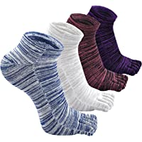 Mens Toe Socks, Run Original Weight Five Finger Mini Crew Wicking Socks